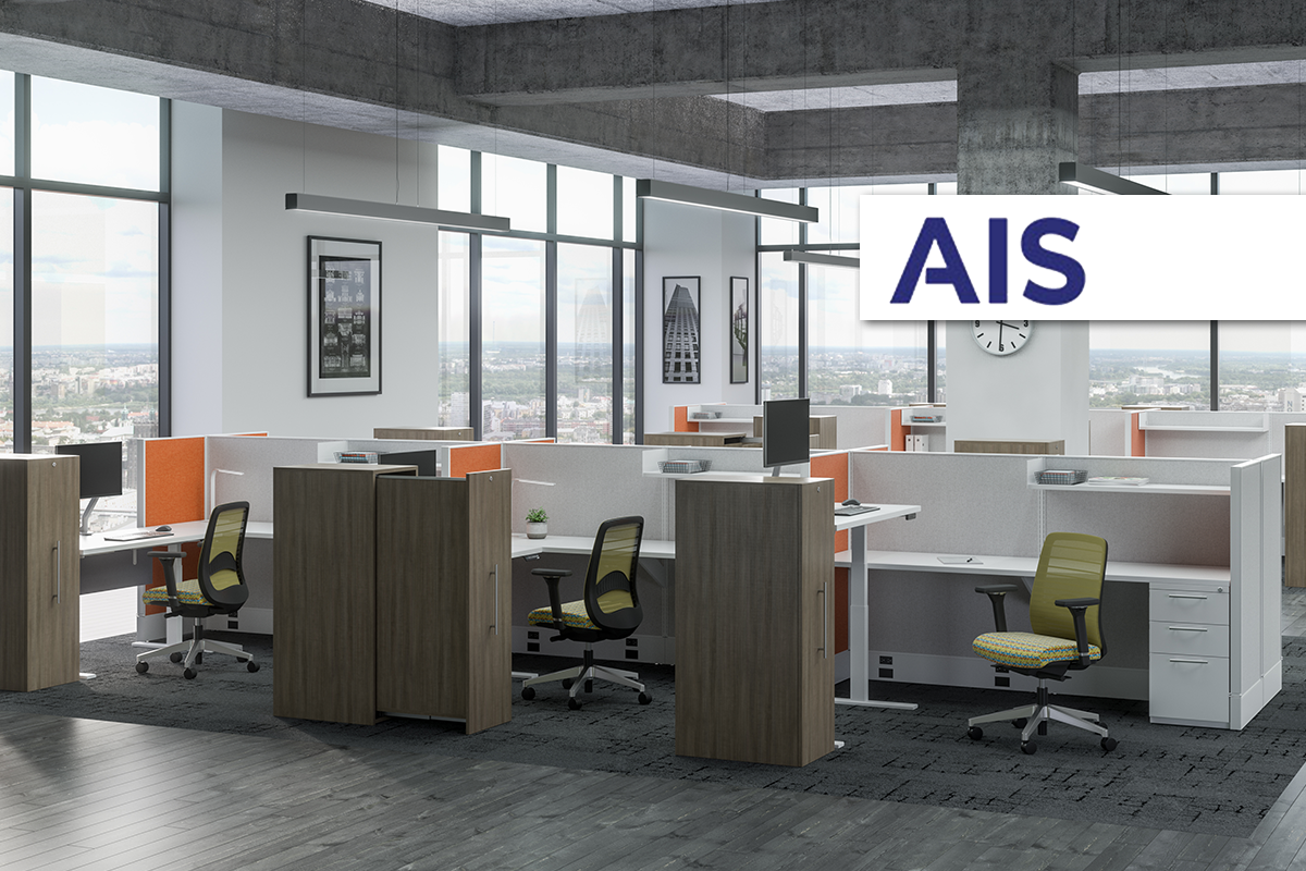 AIS office furniture chair desk workstation collaboration storage height adjustable table cubicle lounge cafe breakroom