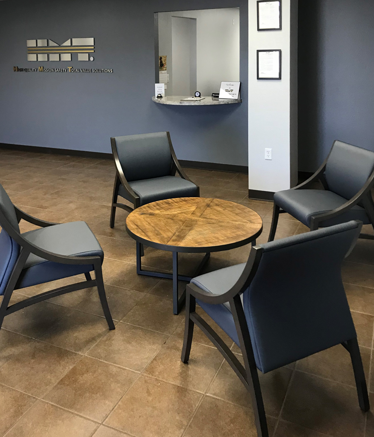 HMT furniture provided and installed by Vanguard Environments