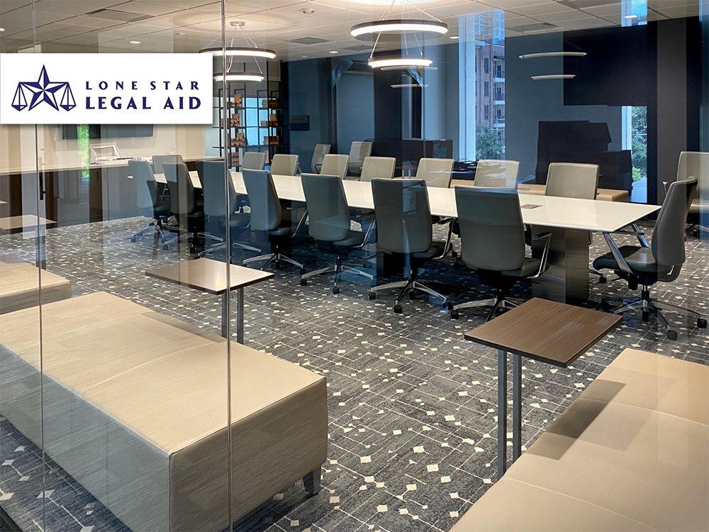 Lone Star Legal Aid furniture provided and installed by Vanguard Environments