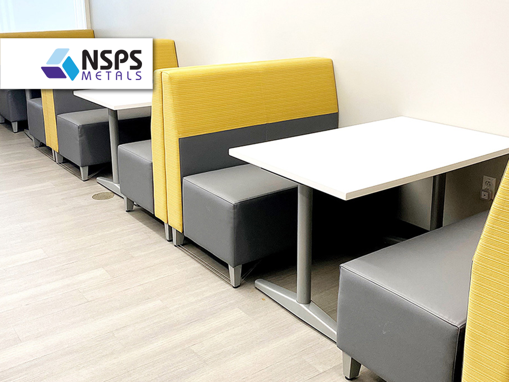 NSPS Metals furniture provided and installed by Vanguard Environments