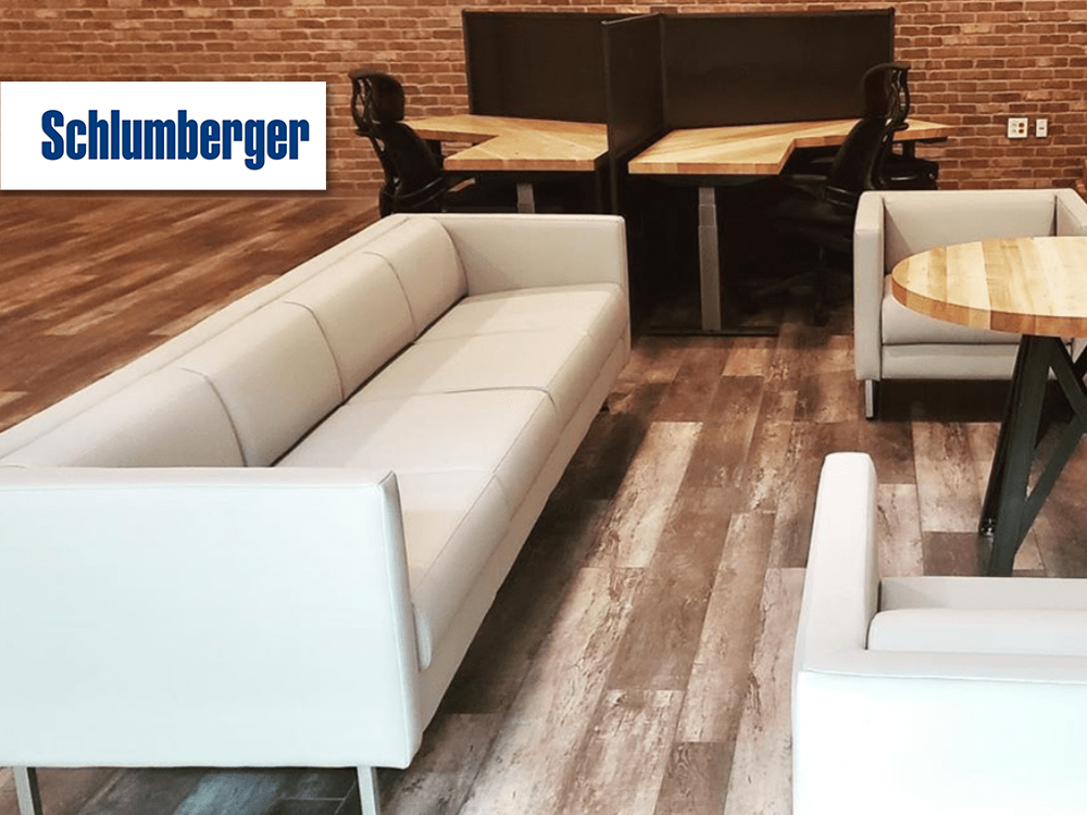Schlumberger furniture provided and installed by Vanguard Environments